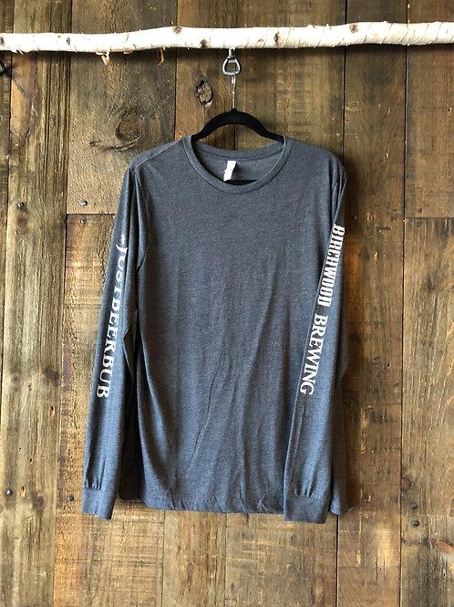 #JUSTBEERBUB Dark Gray Long Sleeve Men's Shirt
