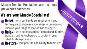 National Headache & Migraine Awareness Month