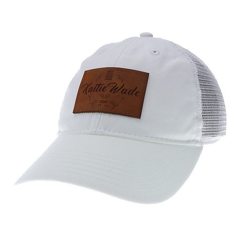 Kaitie Wade Signature White Hat With Leather Accents