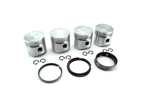 Classic Mini PISTON SET [4] 998 FLAT TOP CIRCLIP TYPE +20 OVERSIZE