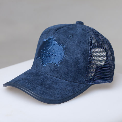 Living Legend Navy Suede Mesh Trucker Cap