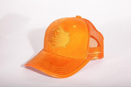 Living Legend Orange Suede Mesh Trucker Cap