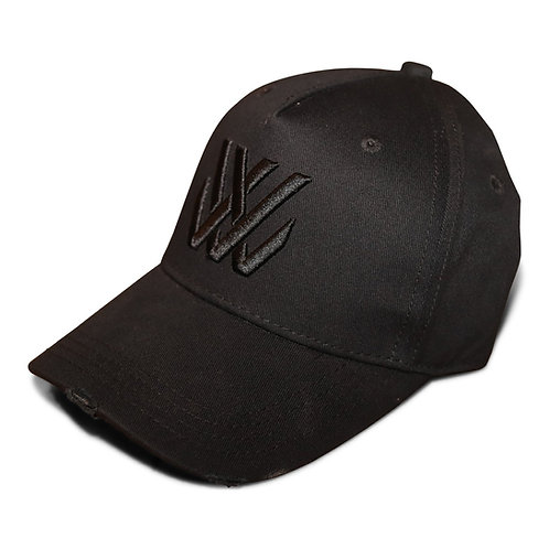 Living Legend Black Distressed Baseball Cap