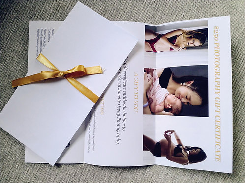 $250 Downloadable Photography Gift Certificate