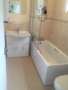 Bathrooms installed to high specification from start to finish