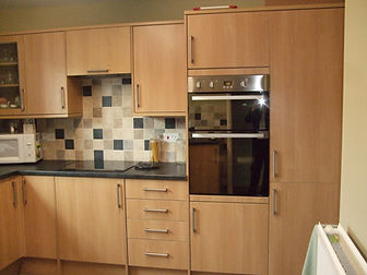 After kitchen installed, tiled and worktops installed