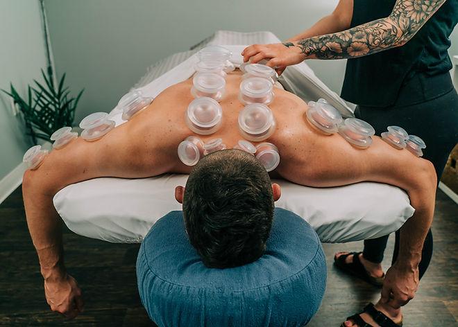 Massage Cupping Deep Tissue Full Back Pl