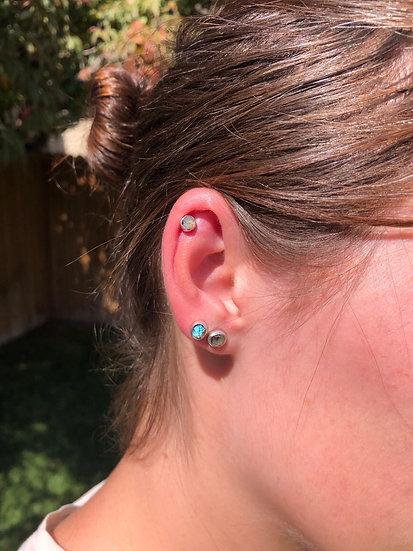 Labradorite Earrings 100% Sterling Silver