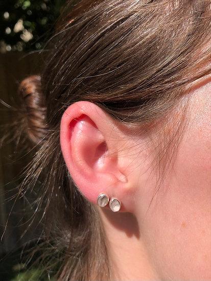 Rose Quartz Earrings 100% Sterling Silver