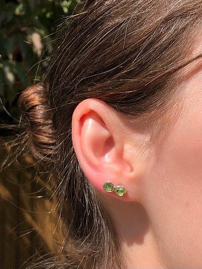 Peridot Earrings 100% Sterling Silver