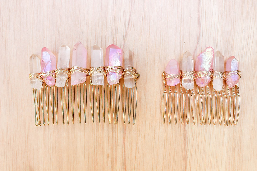 Rose Aura Gold Comb