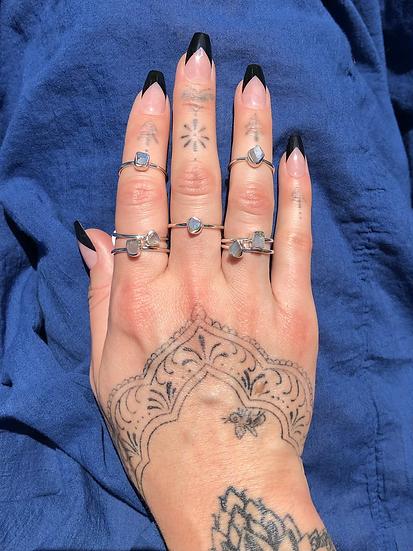 Raw Labradorite Ring 100% Sterling Silver
