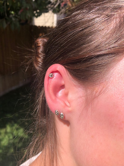 Pyrite Earrings 100% Sterling Silver