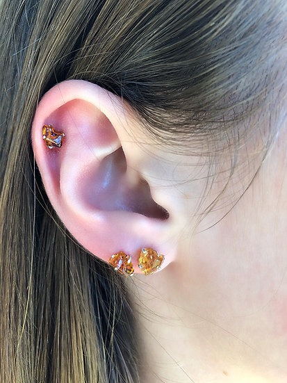 Citrine Earrings 100% Sterling Silver