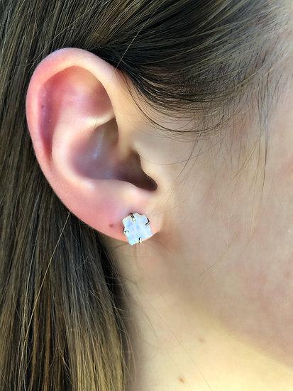 Moonstone Earrings 100% Sterling Silver
