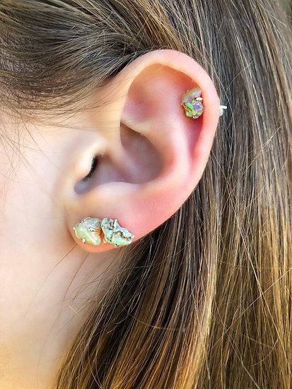 Opal Earring 100% Sterling Silver
