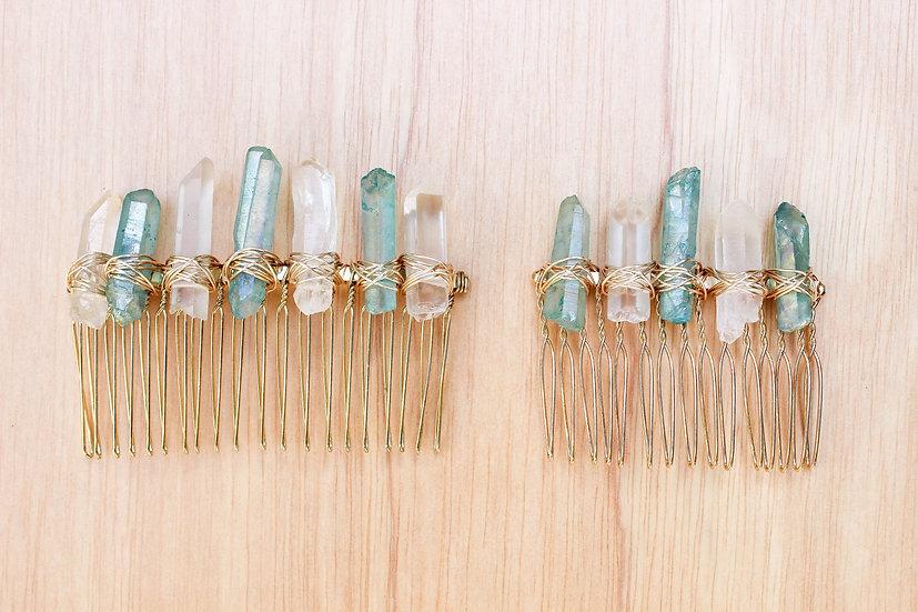 Aqua Aura Gold Comb