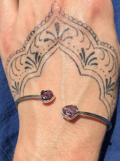 Garnet Bracelet 100% Sterling Silver