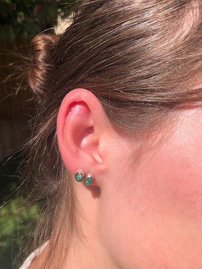 Emerald Earrings100% Sterling Silver