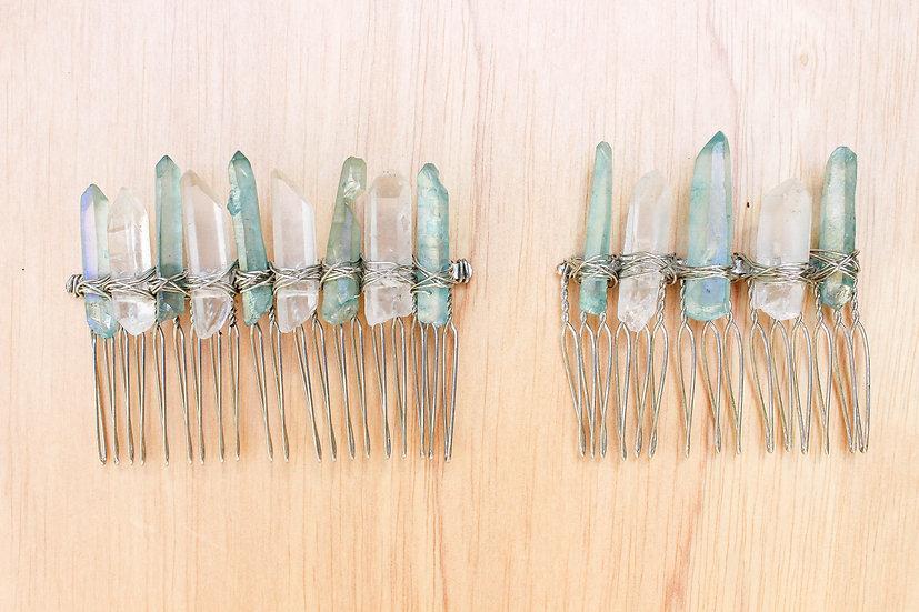 Aqua Aura Silver Comb