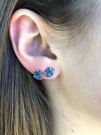 Sapphire Earring 100% Sterling Silver