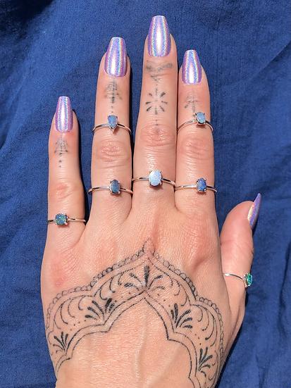 Australian Opal Ring 100% Sterling Silver
