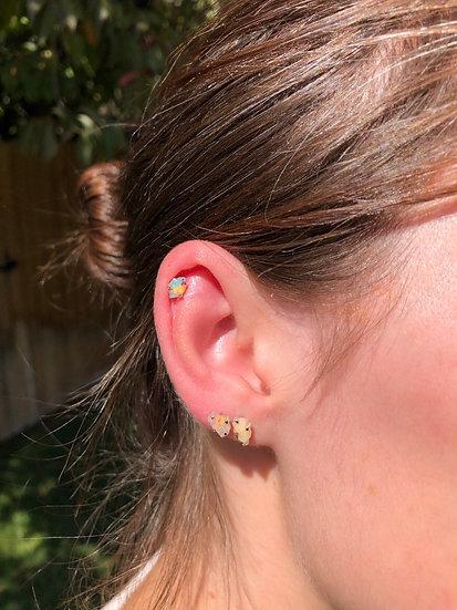 Ethiopian Opal Earrings 100% Sterling Silver