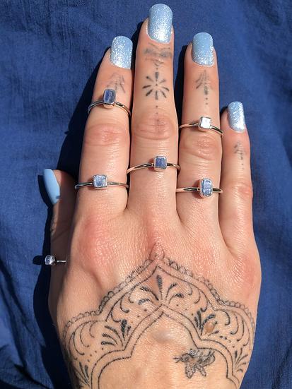 Blue Kyanite Ring 100% Sterling Silver