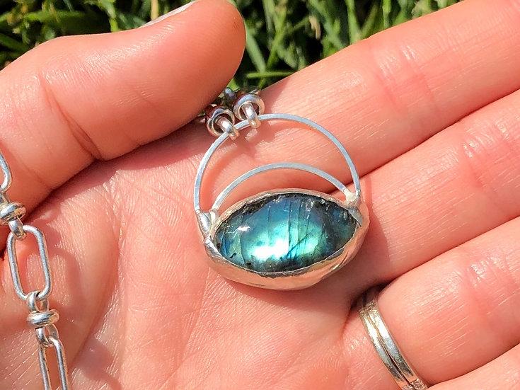 Dragon Eye ~ Green Labradorite