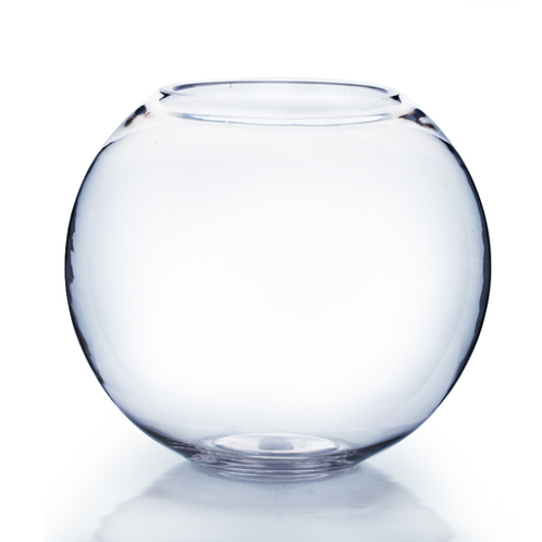 "6x5"" Bubble Bowl Glass Vases- Case of 24"