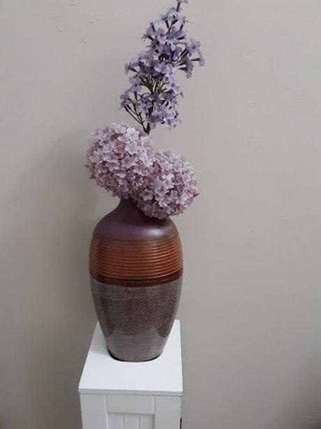 Lavender Floral Vase w/Flowers