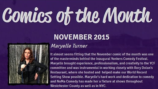 Maryelle Turner NoMa Comedy Comic of the Month