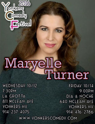 Comedian Maryelle Turner at Yonkers Comedy Festiva