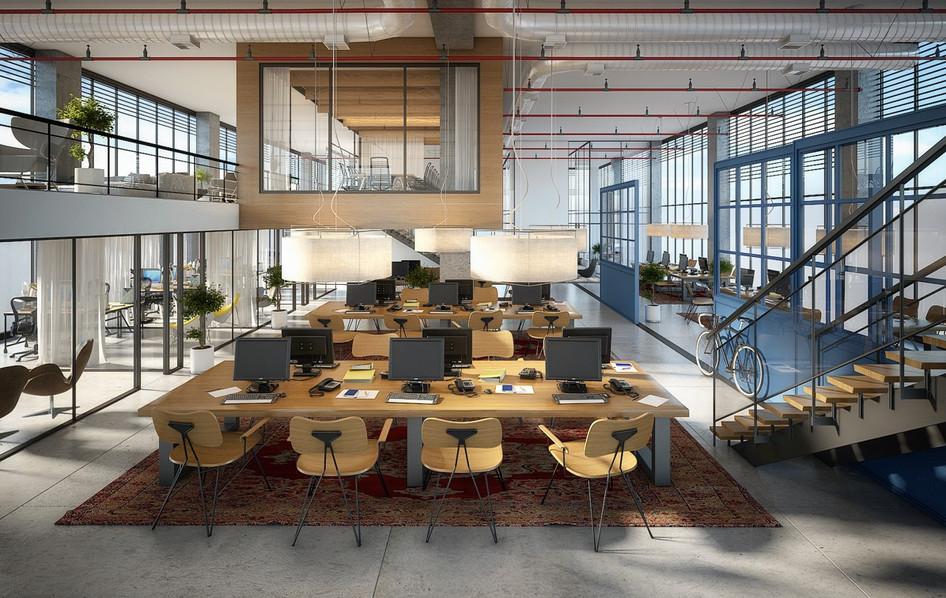 Commercial building architecture