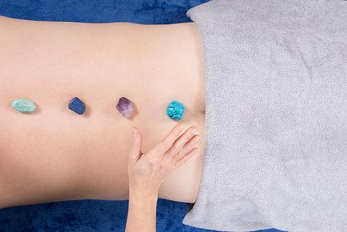 Woman Reiki Healer with Healing  - man's
