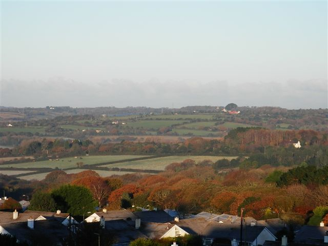Carnon Downs in the Autumn