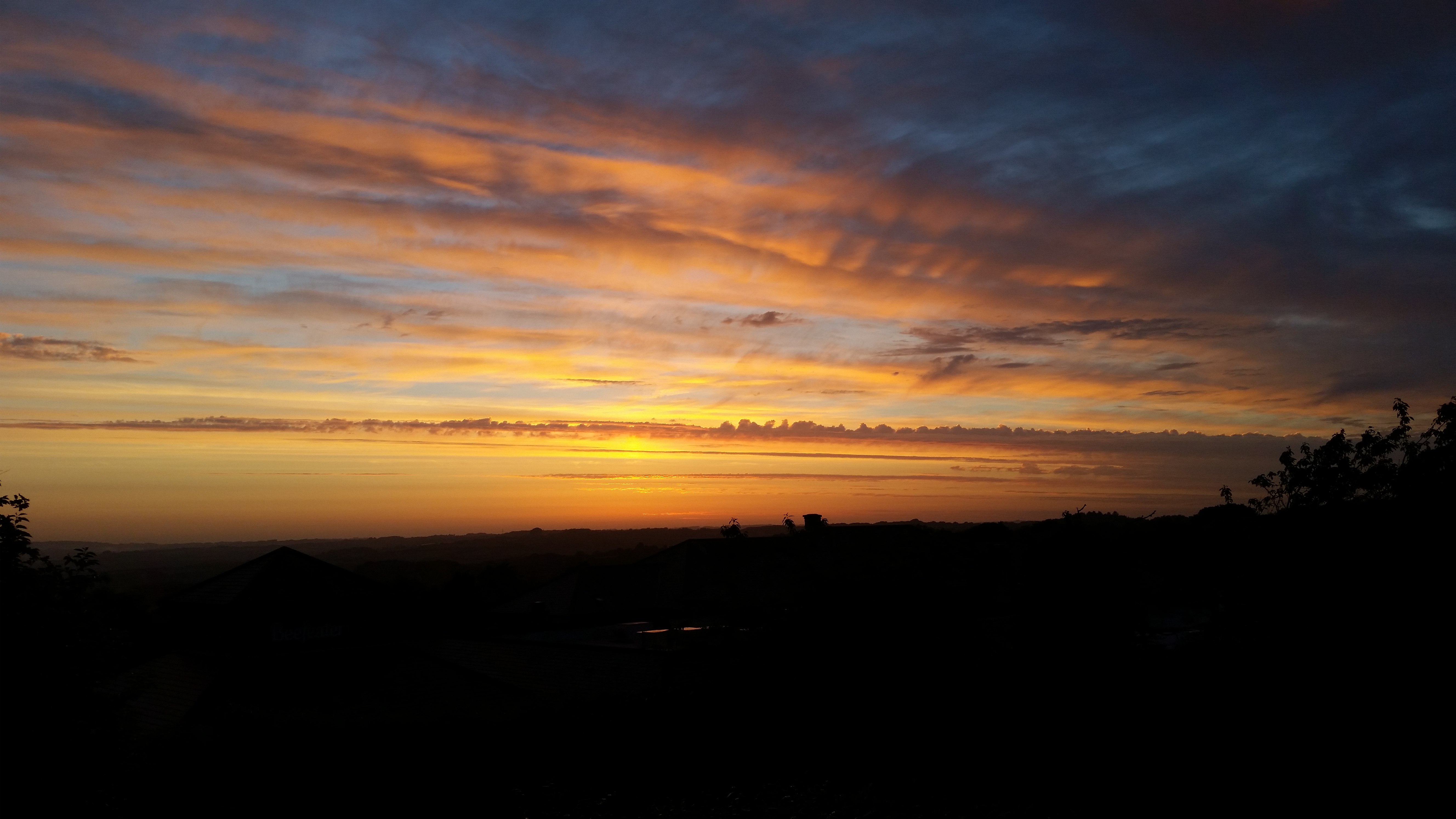 Sunset over carnon downs