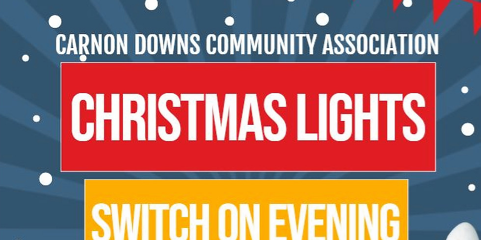 Christmas Lights Switch on Evening