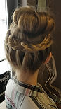 Updo with braid in center