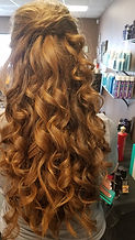 Beautiful style with curls