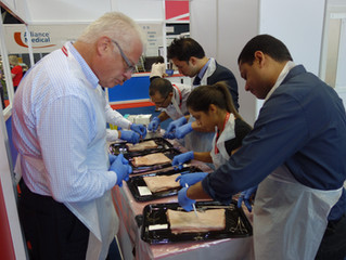 Invited again to lead the surgical skills simulator training at the British Cardiovascular Society a
