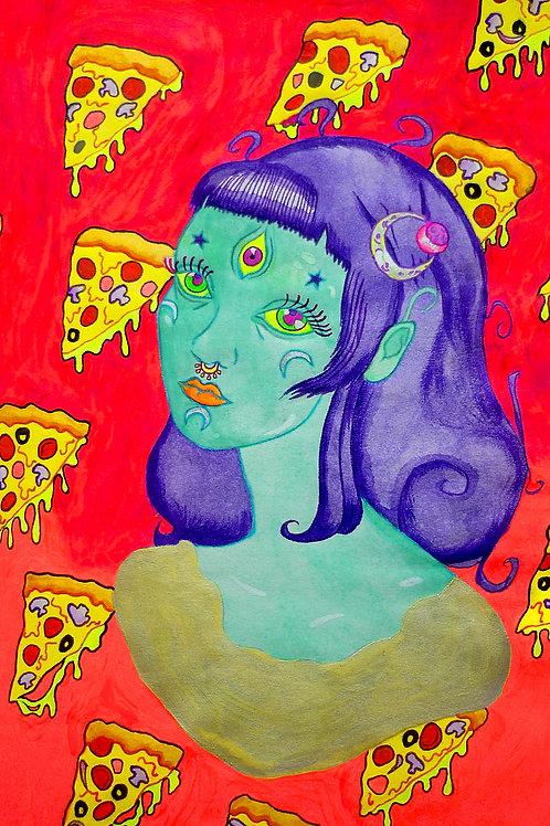 Alien Pizza Lady