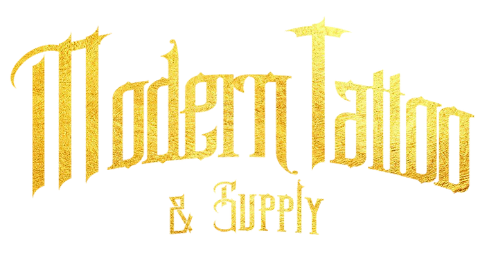 modern tattoo supply logo