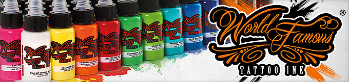 World Famous Tattoo Ink – 1 oz (Pick your color)