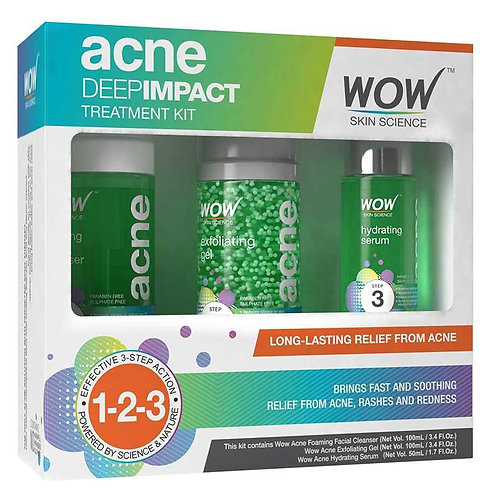 WOW Skin Science Acne Deep Impact Treatment Kit - 250 ml