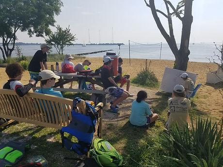 Brendan Sailing Program Lesson on the Beach
