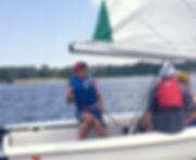 Brendan Sailing at Annapolis Maryland - Annapolis Sailing School
