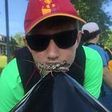 Brendan Camper Observes Grasshopper
