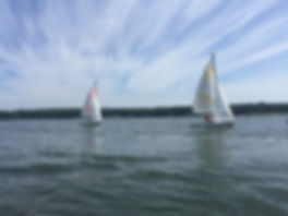 Two Sailboats during Brendan Sailing Session on St. Mary's River