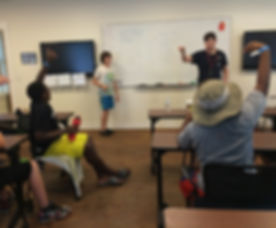 Brendan Campers Discuss Sailing in the Classroom